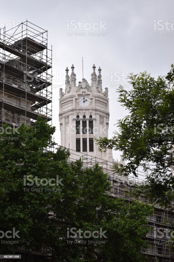 Towers of classic buildings. royalty-free stock photo