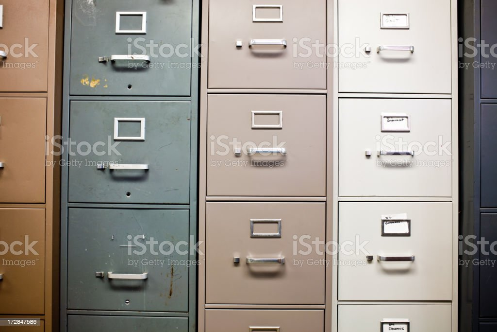 towers of dirty cabinets royalty-free stock photo