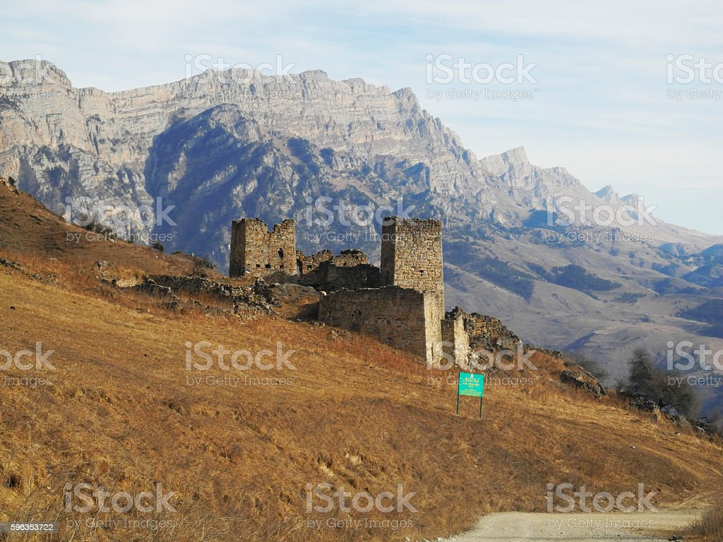 Towers of Ingushetia. Ancient architecture and ruins royalty-free stock photo