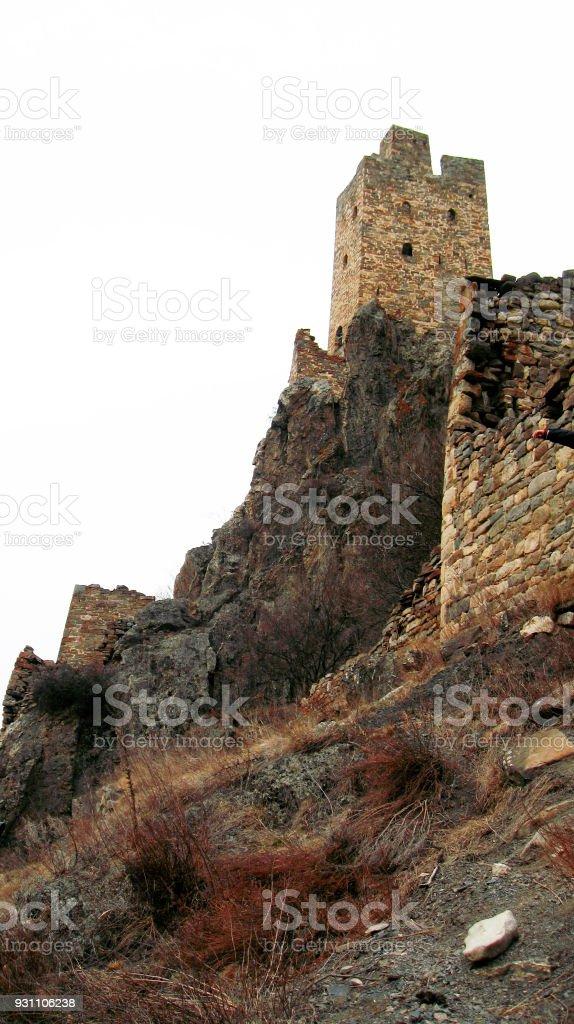 İnguşetya kuleleri. Antik mimari ve kalıntılar - Royalty-free Antik Stok görsel