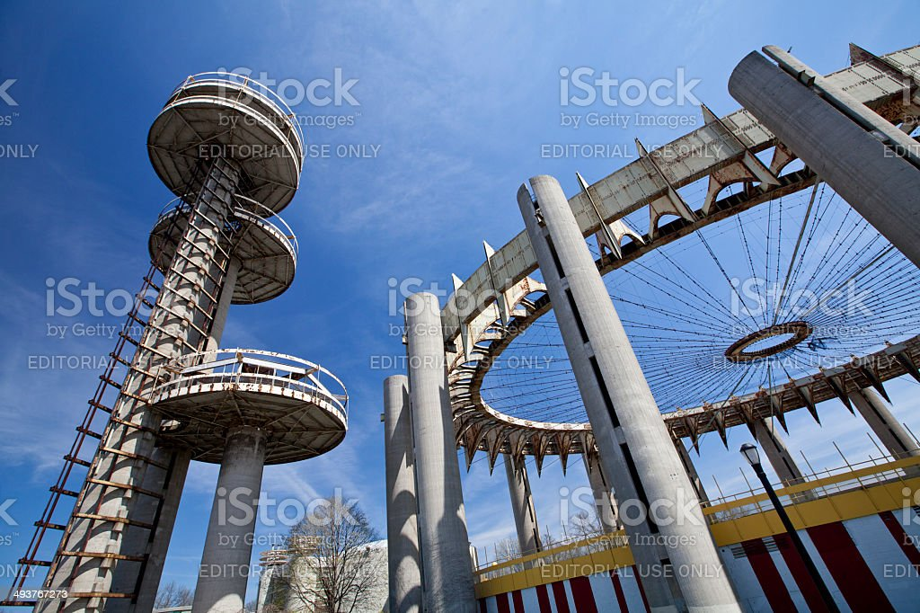 Towers of New York State Pavilion stock photo