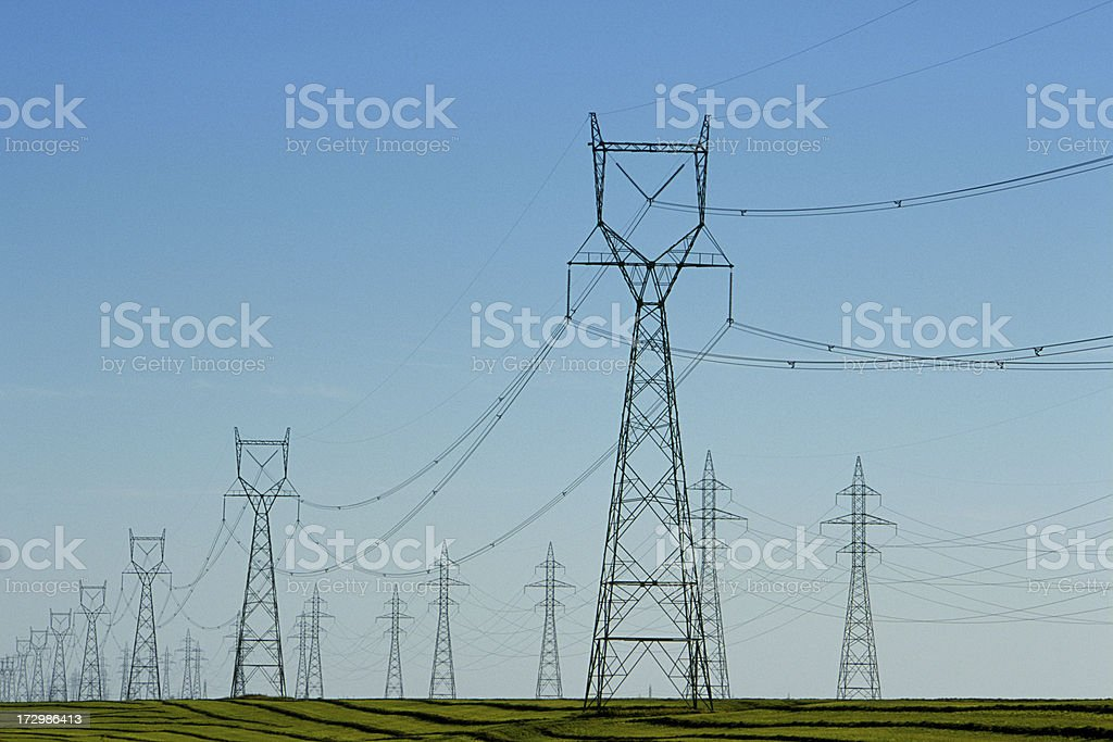 Towers of Power royalty-free stock photo