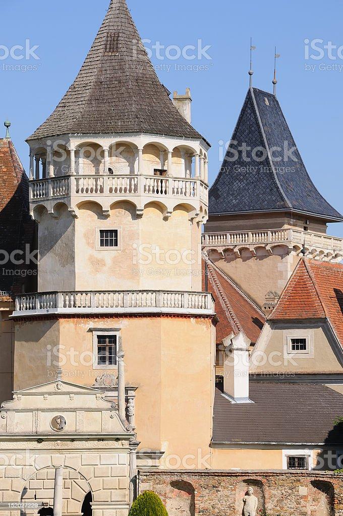 Towers of Rosenburg stock photo