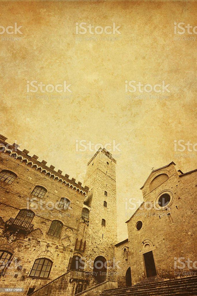 Towers of San Gimignano royalty-free stock photo