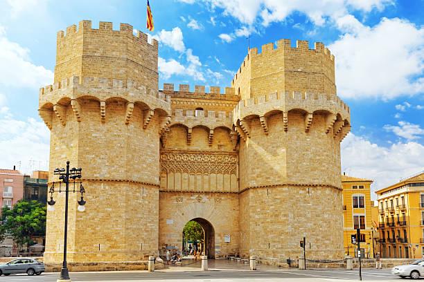 Towers of Serranos in  Valencia stok fotoğrafı