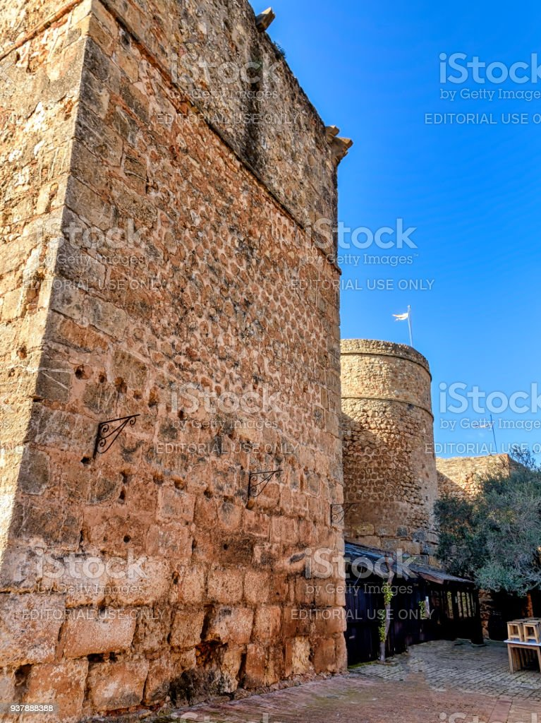 Towers of the castle of Niebla in Huelva, Southern Spain. stock photo