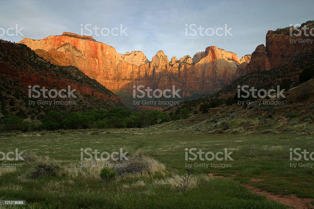 Towers Of The Virgin, Zion National Park royalty-free stock photo