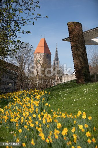 istock towers of ulm Inch. the tower of the minster and the Gänsturm 1192698026