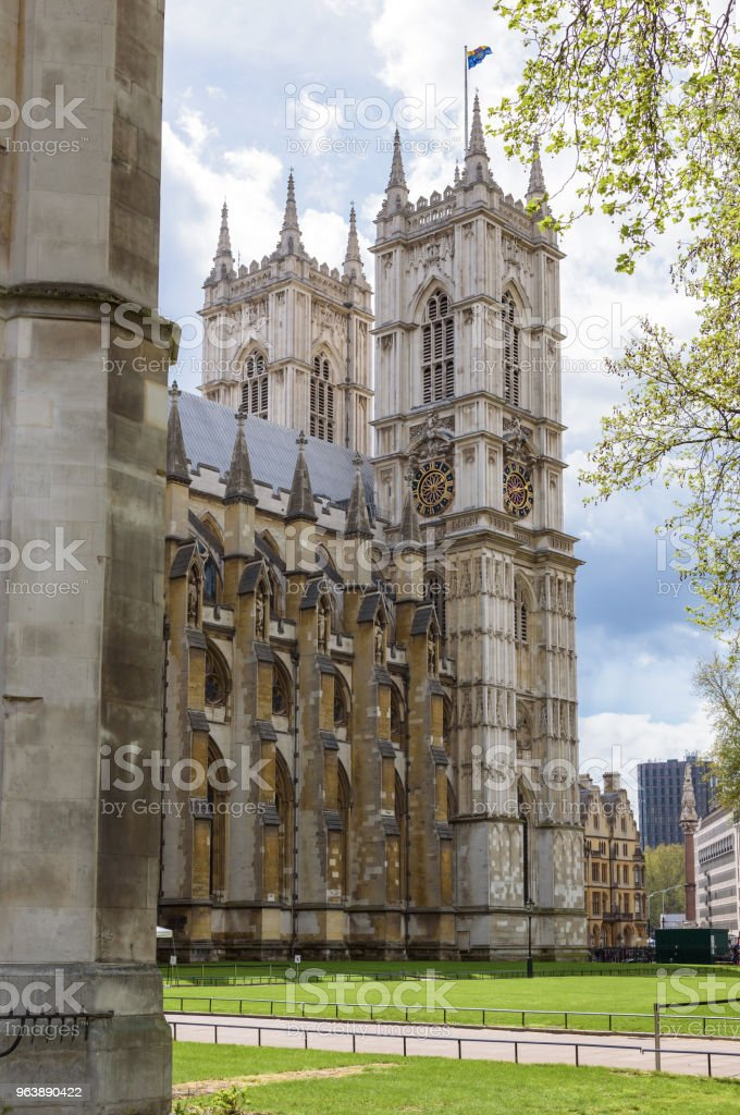 Towers of Westminster Abbey in London - Royalty-free Abbey - Monastery Stock Photo