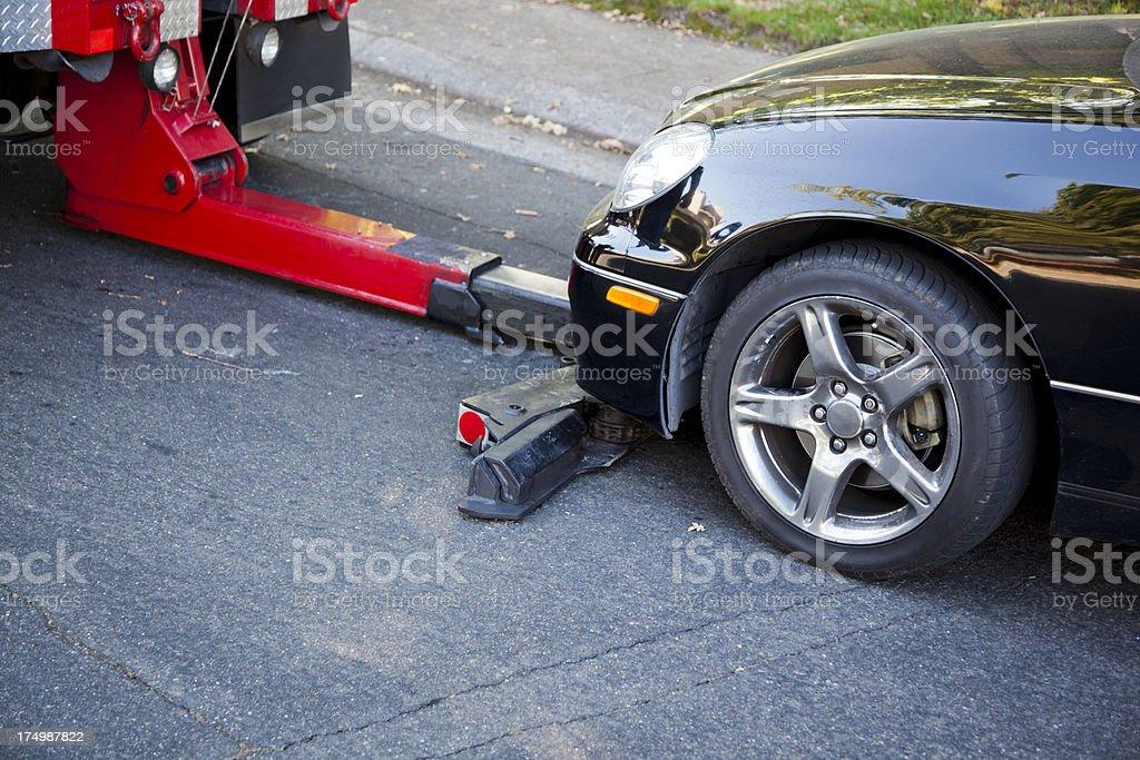Towing Away Car stock photo
