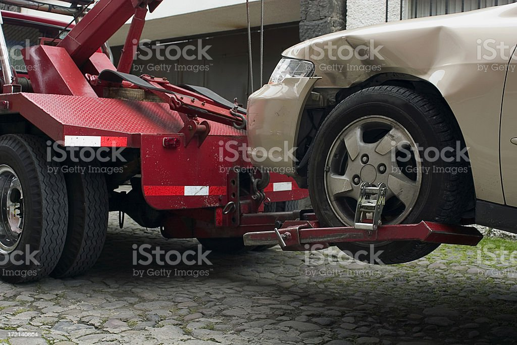 towing away royalty-free stock photo