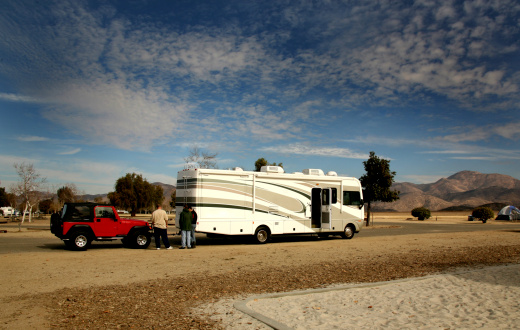 RV towing for camping