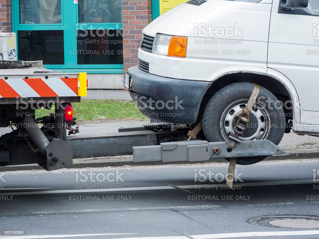 Towing service stock photo