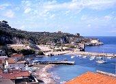Town and beach, Marina di Puolo, Italy.