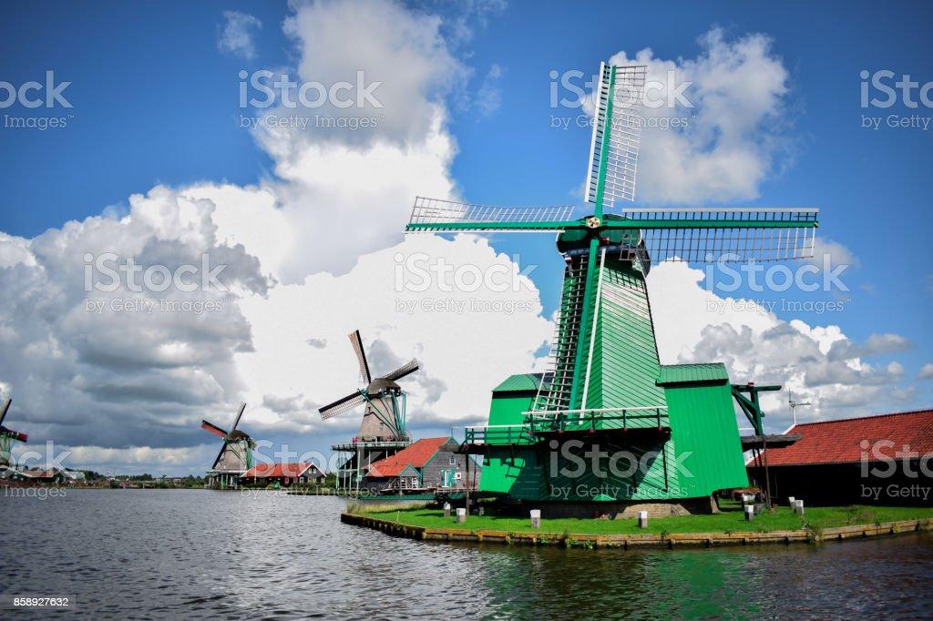Town as a Fairy Tale Zaanse Schans stock photo