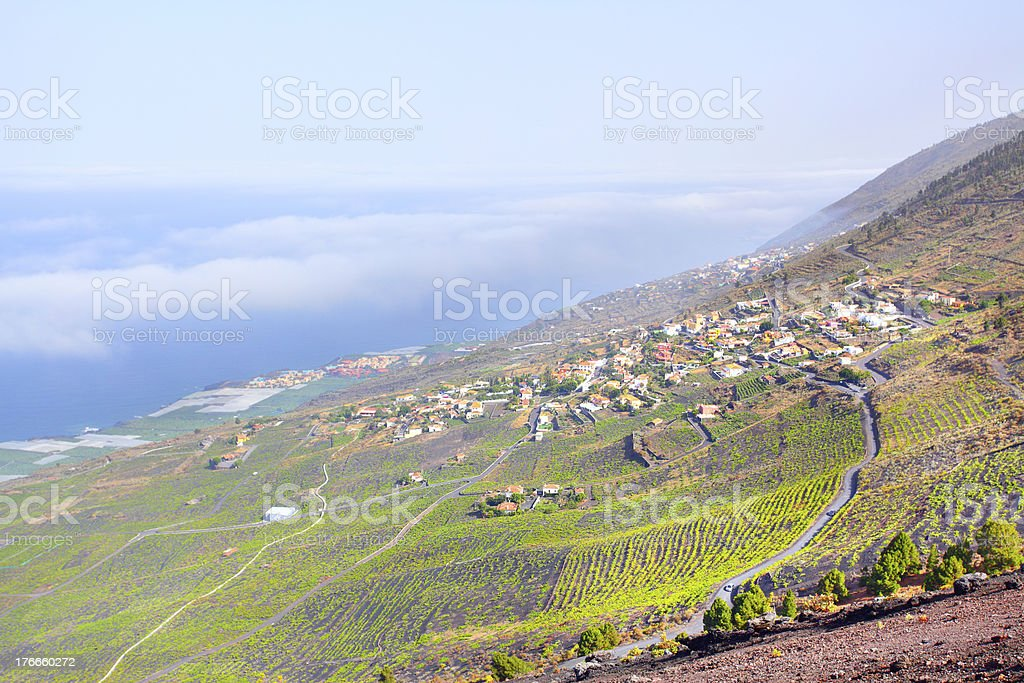 Town beyond clouds royalty-free stock photo