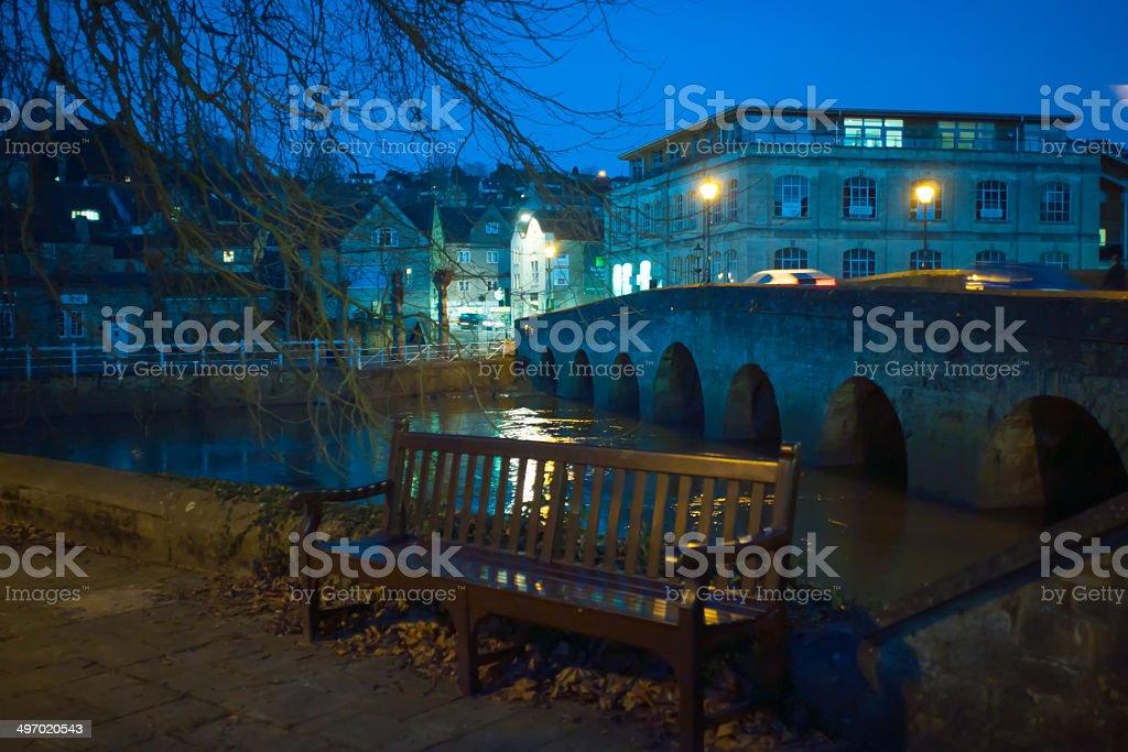 Town Bridge in Bradford on Avon stock photo