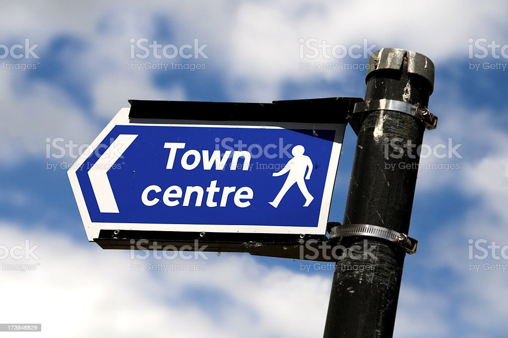 Town Centre sign royalty-free stock photo
