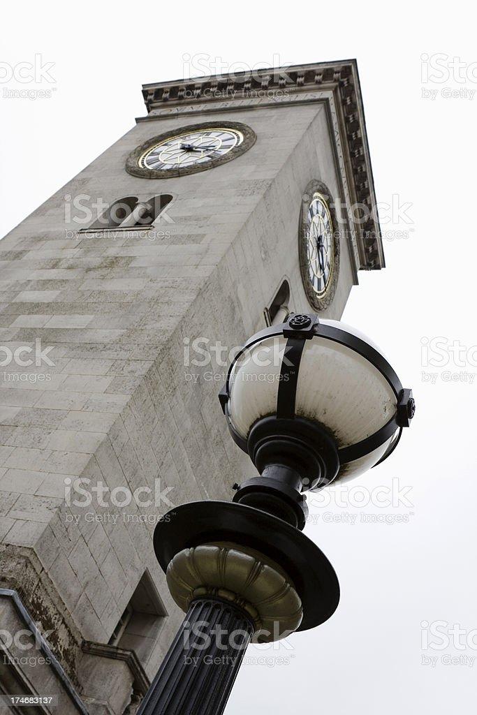 Town clock and War Memorial royalty-free stock photo