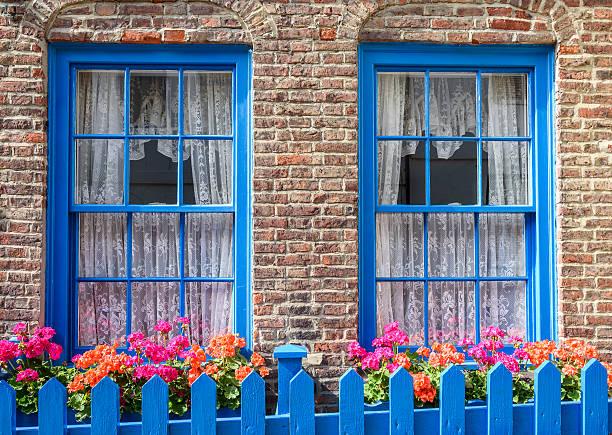 Town Cottage Garden stock photo