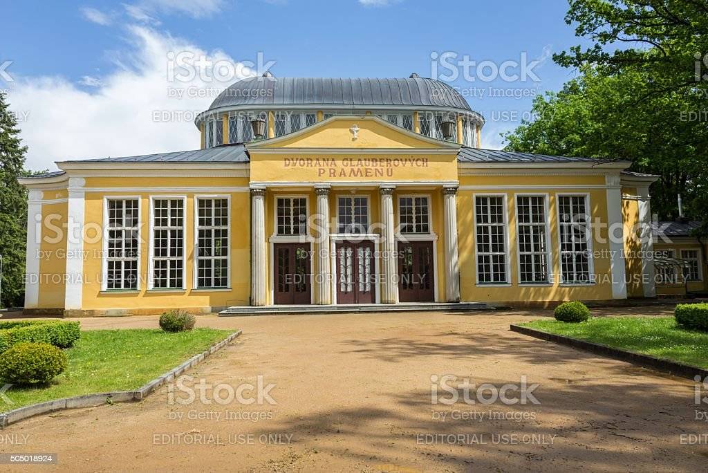 Town Frantiskovy Lazne.(Czech Republic) stock photo