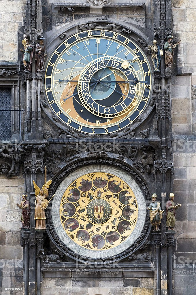 Town Hall and Astronomical Clock, Prague. royalty-free stock photo