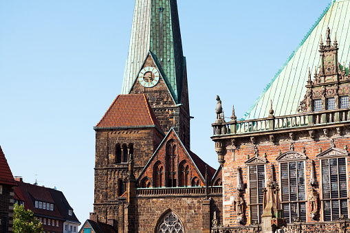 Town Hall Y De La Iglesia De Nuestra Señora De Bremen Foto De Stock Y Más Banco De Imágenes De Alemania Istock