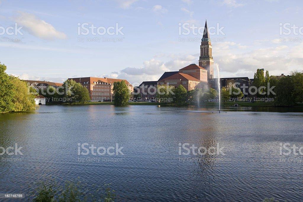 Town hall and opera of Kiel/ Germany stock photo