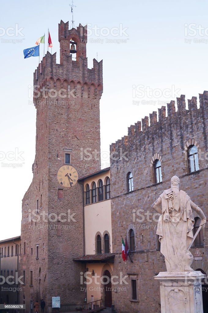 Town Hall, Arezzo zbiór zdjęć royalty-free