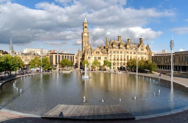 Town hall Bradford UK stock photo