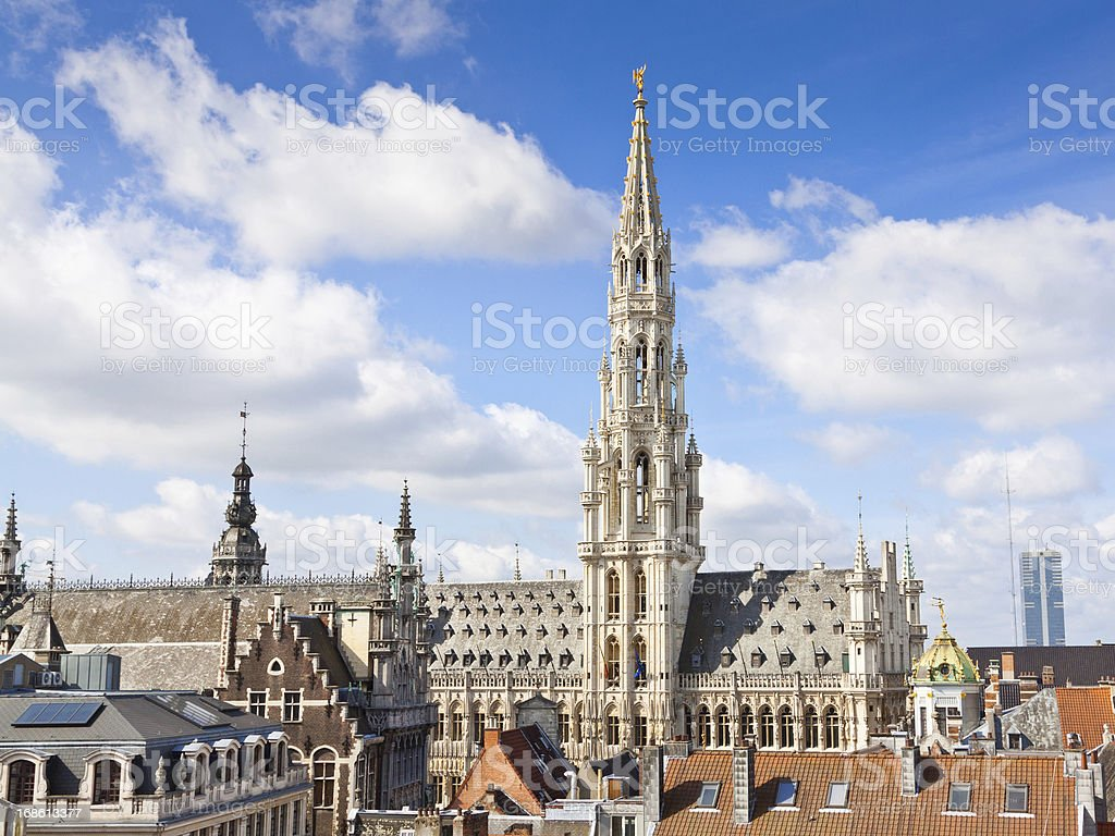 Town Hall (Hotel de Ville), Brussels. royalty-free stock photo