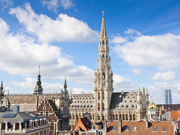 Town Hall (Hotel de Ville), Brussels. stock photo