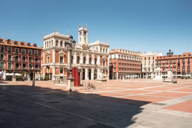 Town Hall building in Valladolid, Spain stock photo