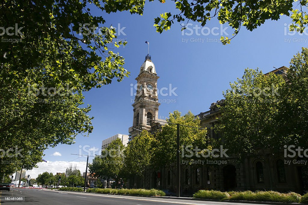 Ayuntamiento de reloj foto de stock libre de derechos