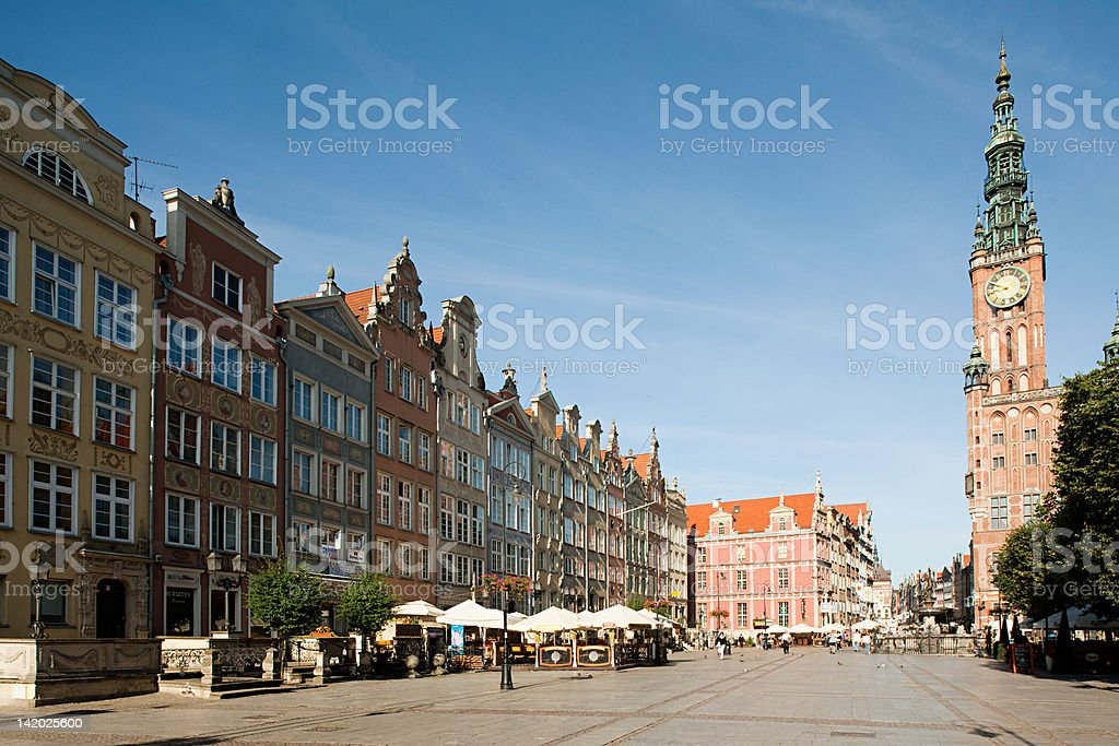 Town hall, Gdansk, Poland stock photo