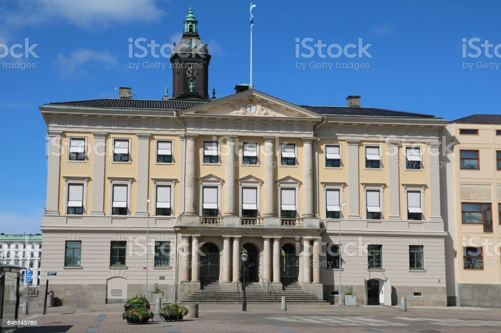 Town Hall Gothenburg at Gustav Adolf Square, Sweden Scandinavia stock photo