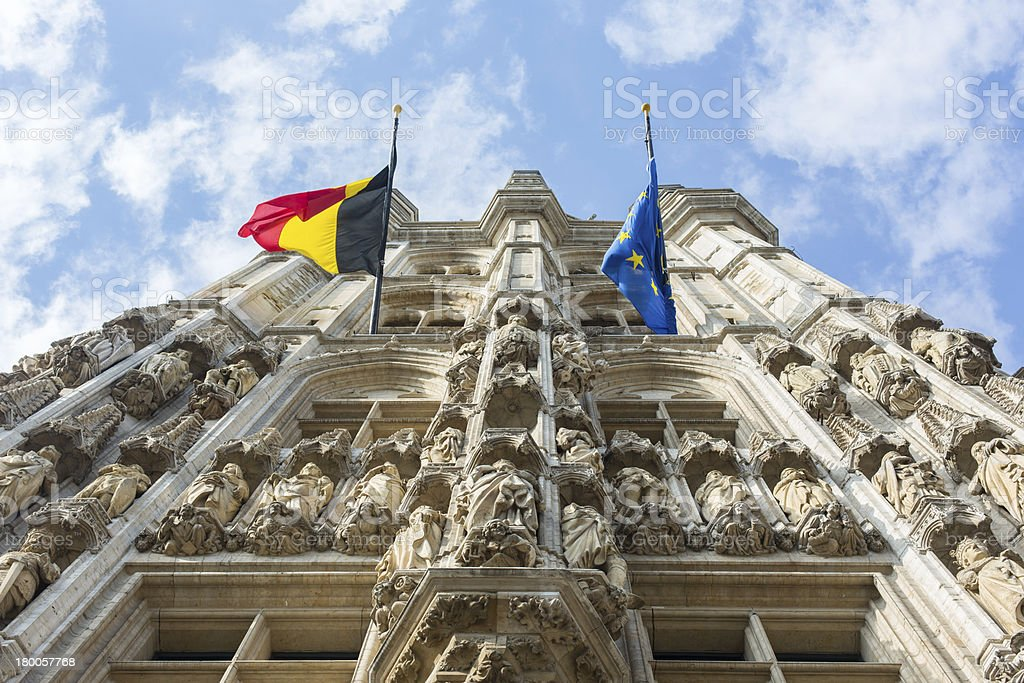 Town Hall, Grand Place, Brussels stock photo
