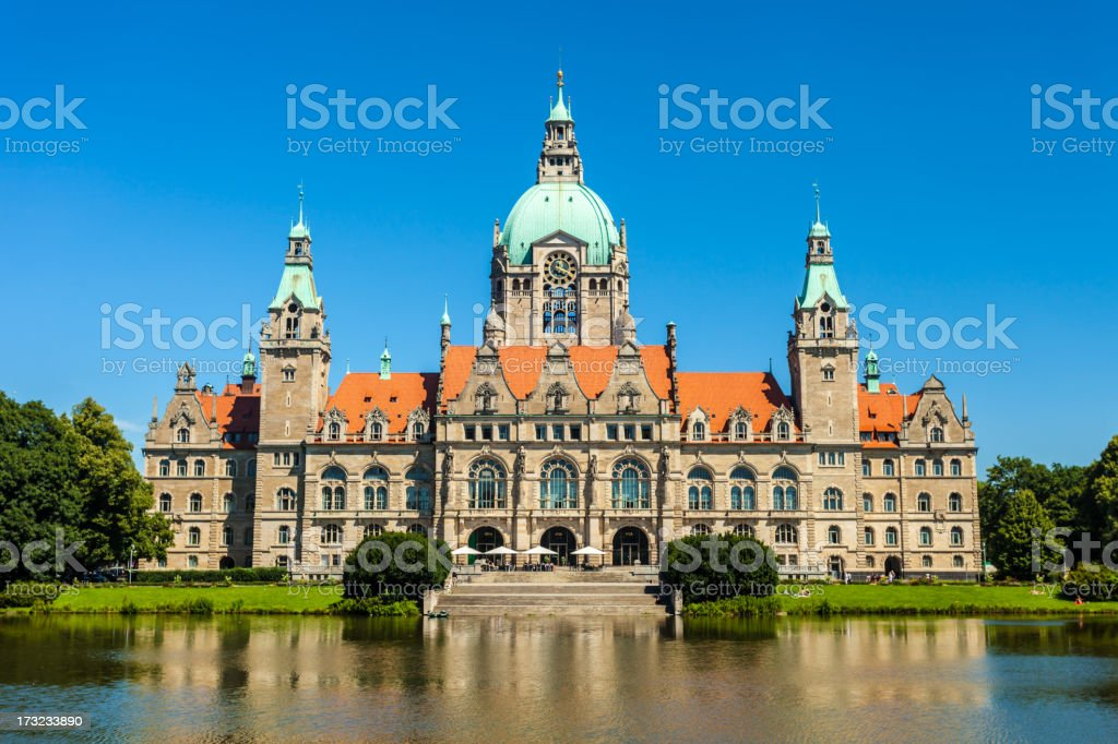 Town Hall Hanover, Germany stock photo