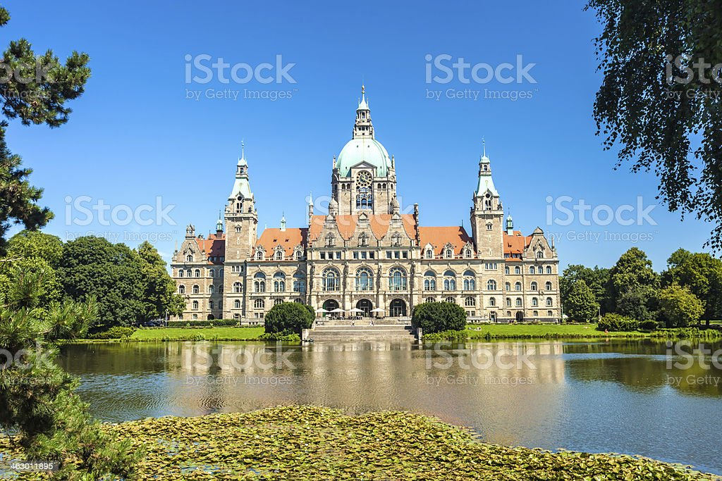 Town Hall Hanover stock photo