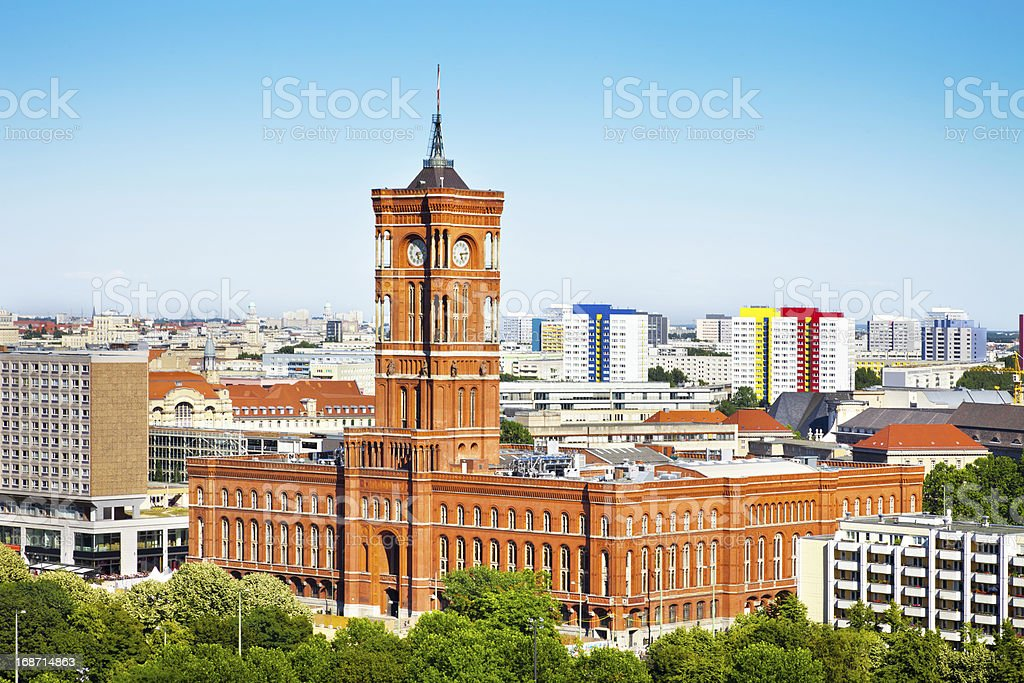 Town Hall in Berlin, Germany stock photo