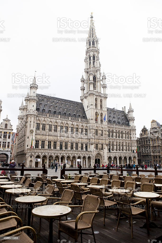 Town Hall in Brussels royalty-free stock photo