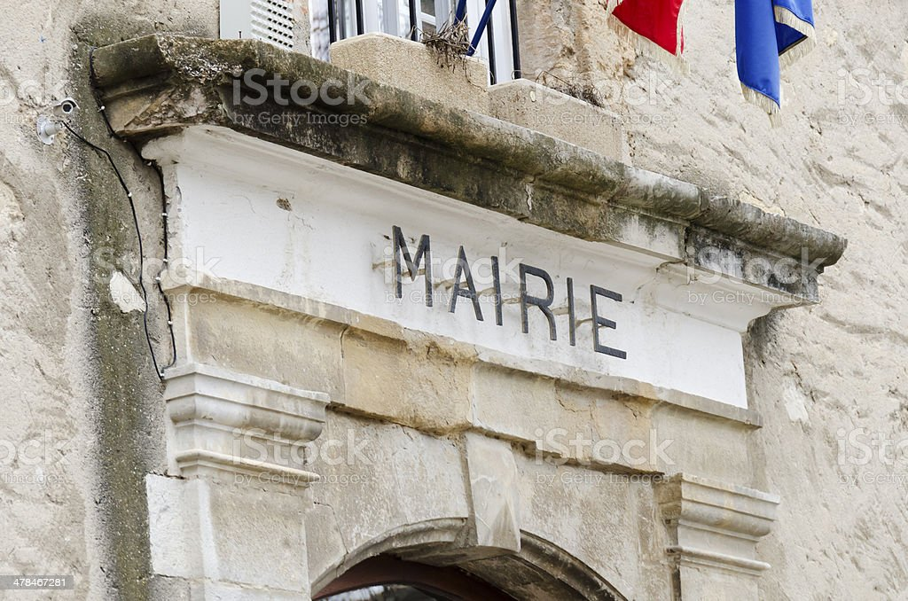 town hall in France stock photo