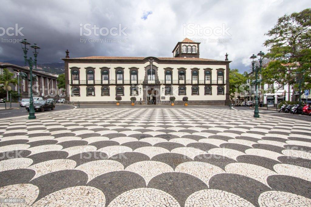 Town hall in Funchal, Madeira - Royalty-free Antigo Foto de stock