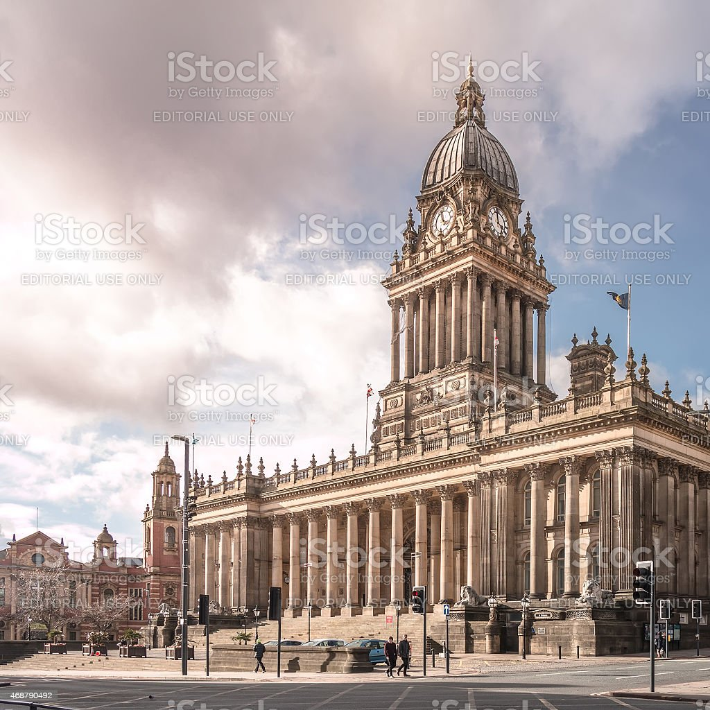 Town Hall in Leeds, West Yorkshire, UK stock photo