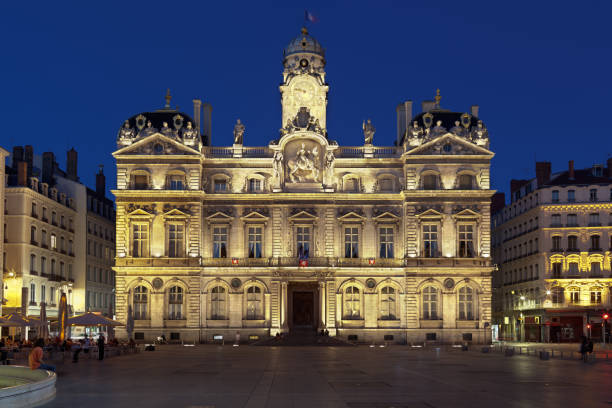 Town hall in Lyon stock photo