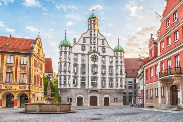 Town hall (Rathaus) in Memmingen, Germany – Foto