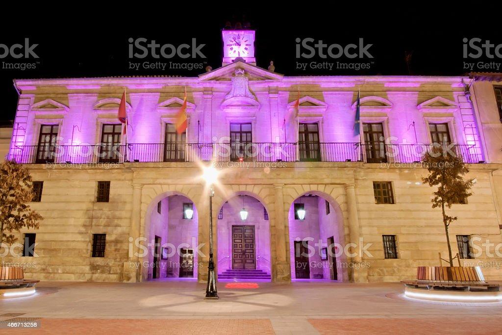 Town hall in Miranda de Ebro, Spain. stock photo