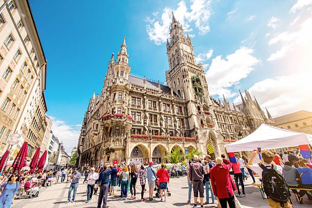 town hall in munich - marienplatz bildbanksfoton och bilder