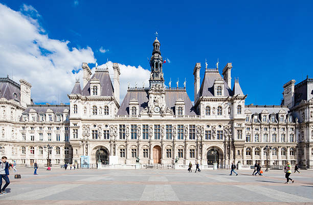 Town hall in Paris, France stock photo