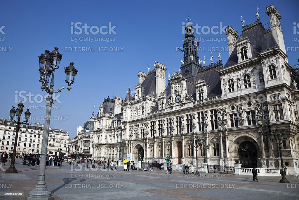 Town Hall in Paris royalty-free stock photo